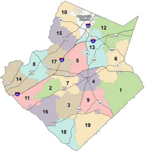 Buford Zip Code Map.Gcps Cluster Boundaries Gcps