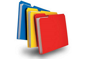 multi-color file folders
