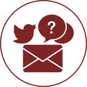 gcps red envelope with twitter icon and question marks